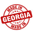 made in georgia red grunge round stamp vector image vector image