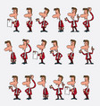 male office worker character set 18 variations vector image vector image