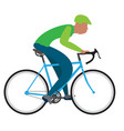 man riding a bike vector image