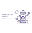 manufacture robots industrial automation vector image