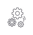 mechanical engineering line icon concept vector image vector image