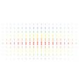 medieval sword spectral halftone array vector image vector image