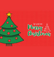 merry christmas pine tree decoration cartoon card vector image vector image