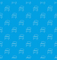 metal barbecue pattern seamless blue vector image vector image