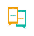 mobile chat symbol vector image