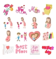 Mother Day cartoon icons vector image