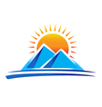 Mountains logo vector image vector image