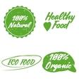 Organicbioecology natural logotypes set vector image