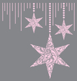 Pink christmas card vector image vector image