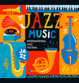 poster for the jazz musical festival vector image