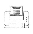 printer with paper icon image vector image vector image