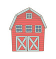 red wooden farm barn vector image vector image