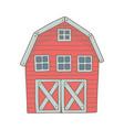 red wooden farm barn vector image