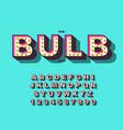 retro light bulb bright alphabet modern vector image vector image