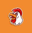 rooster commanders logo vector image vector image