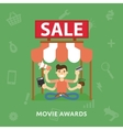 Sales cinema novelties vector image vector image
