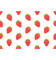 seamless pattern with strawberry vector image