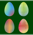 set of easter eggs with different dotted ornaments vector image vector image