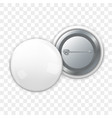 sides of empty badge on pin vector image