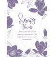 sketch linear magnolia blossom vector image vector image