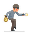 sneak picklock housebreaker thieves keys vector image