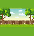 summer landscape with fence vector image