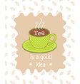 Tea poster vector image