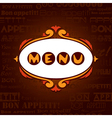 Template menu for restaurant cafe bare vector image vector image