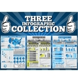 THREE INFOGRAPHIC COLLECTION SPECIAL EDITION vector image