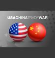 trade war between china and usa vector image vector image
