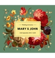 Vintage card with garden flowers vector image