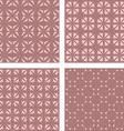Vintage seamless pattern background set vector image vector image