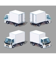 White cargo truck vector image vector image