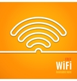 WiFi icon on orange background vector image vector image
