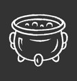 witch cauldron chalk icon brew potion wicked vector image