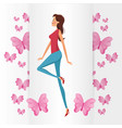 cute girl womens day card vector image