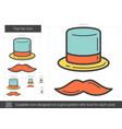 top hat line icon vector image