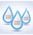 Abstract Water Drops vector image