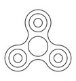 fidget spinner from black contour lines on white vector image