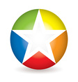 Rainbow star icon vector image