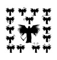 set death with a scythe and wings silhouette vector image
