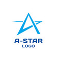 abstract star logo template vector image vector image