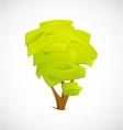 Abstract Tree isolated on a white background vector image vector image