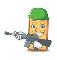 army graham cookies character cartoon vector image vector image
