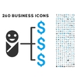 Baby Expenses Icon with Flat Set vector image