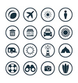beach icons universal set vector image vector image