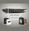 black friday sale banner web discounts hipster ad vector image vector image