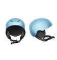 blue protective helmet vector image vector image