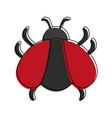 bug virus symbol vector image vector image