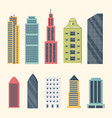 buildings and downtown skyscrapers big city vector image